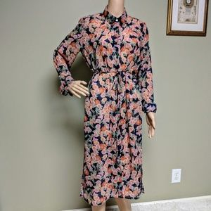 ea16fb7c4c6 Forever 21 Dresses - Forever21 Sheer Floral Chiffon Maxi Shirt Dress